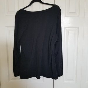 *3 for $20* Lord & Taylor Black Long Sleeve Shirt